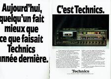 Publicité Advertising 107  1979  Technics (2p)  hi-fi  platine cassette RSM 95