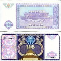 Usbekistan / Uzbekistan 100 Sum Banknote kassenfrisch UNC 1994.
