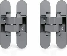 Emuca Invisible Hinge Access Doors Set of 2 Invisible Hinges Heavy Doors 40 kg