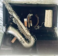 C.G. Conn Silver Saxophone Elkhart Indiana non-playing Patd. December 5 1914