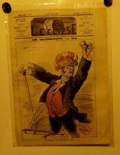 Caricature,Journal l'éclipse,Les saltilbanques , Gill, 14 Décembre 1873