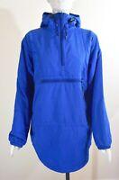 L.L. Bean Women's Half Zip Hooded Thinsulate Anorak Parka Jacket, Blue, Size S