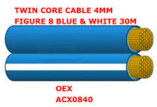 4mm Twin Core Cable Figure 8 4mm Blue & White 30m Twin Core Cable OEX ACX0840