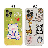 For Apple iPhone 12 11Pro 7 8Plus X XR,Cartoon Cute Bear Animal Phone Case Cover