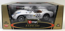 Burago 1/18 Scale Diecast  3307 Ferrari Testa Rossa 1957 #22 White Model Car