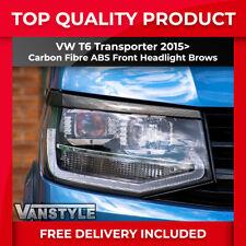 VW T6 TRANSPORTER 2015> FRONT HEADLIGHT BROWS EYELIDS EYEBROWS CARBON FIBRE TRIM