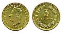 Forty (40) El Salvador 3 Centavos Uncirculated Coins, KM148
