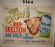 The Clown Original 1/2sh Movie Poster 1953 R63 Red Skelton in full make up!