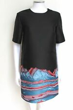 NEW ALEXANDER WANG Mountain Print Shift Dress US4 UK8