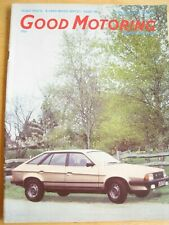GOOD MOTORING MAGAZINE MAR 1982 FIAT STRADA RELIANT SCIMITAR GTE VOLVO ESTATE