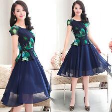 new summer Korean fashion beautiful temperament shitsuke chiffon printing dress