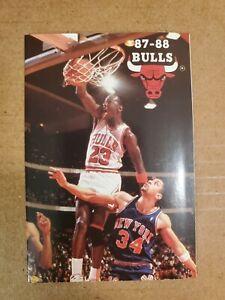 Michael Jordan cover Chicago Bulls Basketball schedule 1987-88 🔥
