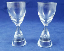 Holmegaard Princess cordial glasses with hand-blown air bubble mid-century