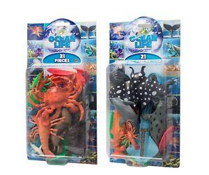 Ocean Life 21 Pieces - Sea Life Playset - Animal Figures -Children's Toy - New