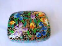 Paper Mache' Iris Flower Trinket Box