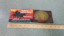 Marlboro Longhorn Solid Brass Belt Buckle New in Original Packaging !!