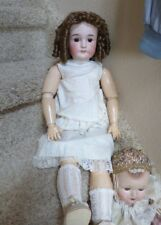 """Antique Bisque Head Doll Queen Louise 25"""" AM/Wolf Compo Body Nice bisque/wig"""