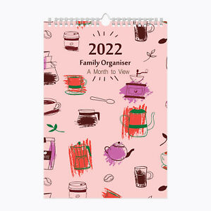 2022 Family Organiser Large A3 Spiral Planner Calendar 5 Columns Month to View