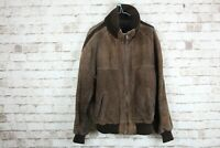 Brown Genuine Leather Jacket Size 44 No.M699 07/3