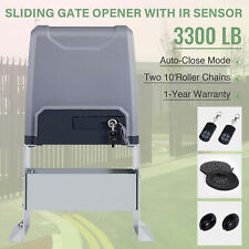 Sliding Gate Opener for Gates Up to 3300Lbs w/ Remote Controls.