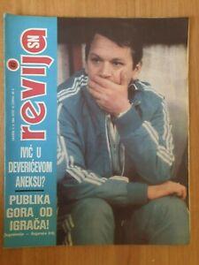sport magazine SN REVIJA #417 tennis Monica Seles Yugoslavia vs Bulgaria 1984