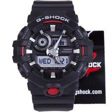 Casio G-Shock GA-700-1A Black Super Illuminator Analog Digital Mens Watch GA-700