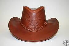 Overlander, Cracker Jack, Leather Hat, embossed Eagle