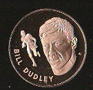 1972 FRANKLIN MINT SOLID BRONZE COIN 1.5 BULLET BILL DUDLEY REDSKINS