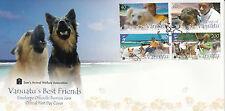 Vanuatu 2013 FDC Vanuatu's Best Friends 4v Set Cover Dogs Sam's Animal Welfare