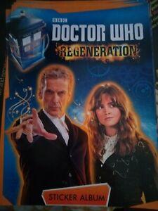 Doctor Who BBC Topps Regeneration Sticker Album - unused album -