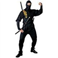 "Mens Ninja Costume Small Uk 38/40"" For Oriental Chinese Fancy Dress - Warrior"