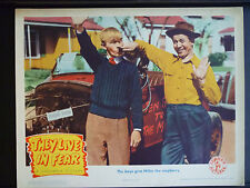 1944 THEY LIVE IN FEAR - LOBBY CARD - MOCKING HITLER - NAZIS - WWII - WAR