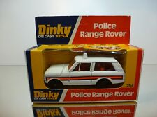 DINKY TOYS 254 POLICE RANGE ROVER - WHITE 1:38? - VERY GOOD IN BOX