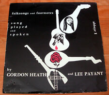 GORDON HEATH + LEE PAYANT Folksongs and Footnotes L'Abbaye PARIS 1956 LP Gospel