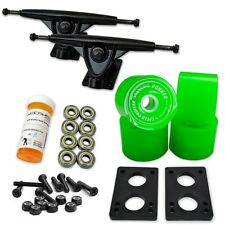 HD7 Longboard Combo set - Black trucks (Solid Green)