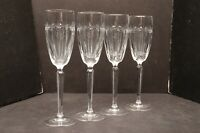 Waterford Crystal Grenville Champagne Flutes SET 4 Toasting glasses stemware