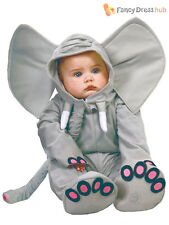 Baby Toddler Grey African Elephant Zoo Animal Fancy Dress Costume Big Ears Age 12-24 Months