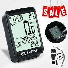Wireless LCD Waterproof Cycling Bike Computer Backlight Speedometer Odometer New