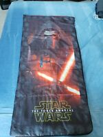 Star Wars The Force Awakens Kids Youth Sleeping Bag Kylo Ren Red Light Saber EUC