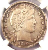 1910-S Barber Half Dollar 50C - NGC AU Details - Rare Date - Certified Coin!