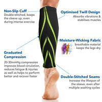 Compression Neoprene Calf Support Sleeves Shin Splints Muscle Injury Pain Relief