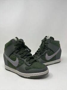 Nike Dunk Sky Hy Hidden Wedged carbon Green/metellic 528899-302 womens Size 7