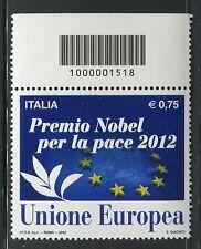 ITALIA 2012 PEACE NOBEL PRIZE/EUROPEAN UNION/ORGANIZATION CODICE A BARRE