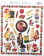 ABC School Crayon Victorian Sticker Sheet
