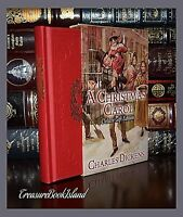 New Christmas Carol by Charles Dickens Deluxe Hardcover Gilt Edge Slipcase Gift