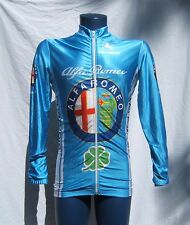Vtg 70s Men S M ALFA ROMEO Shiny Giordana Cycling Jersey L/S Satin Racing Jacket