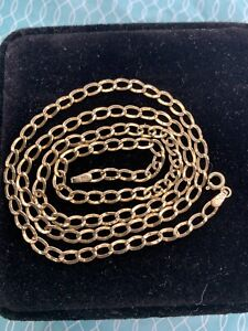 9ct gold Curb necklace chain 20inch Not Scrap