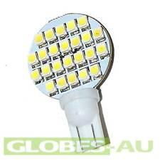 2x 12V LED T10 WARM WHITE 24 SMD Lamp Bulb Light Wedge Globe Low Garden Jayco