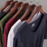 Men's Thin Ice Silk t-Shirt Short Sleeve Summer Slim V-neck bottom Basic T-shirt