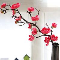 Artificial Silk Fake Flowers Plum Blossom Floral Wedding Bouquet Party DecorGT